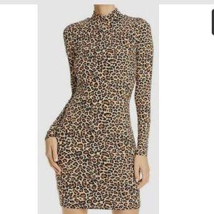 Bardot Mock-Neck Bodycon Dress
